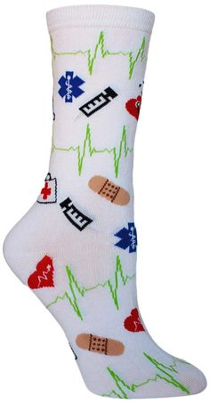 Medical Supplies Socks. Check out these fun socks! Perfect for nurses, caregivers, and anyone with a passion for medicine!