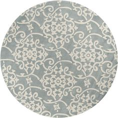 Hand-tufted Grey Floral Rug | Overstock™ Shopping - Great Deals on 5x8 - 6x9 Rugs