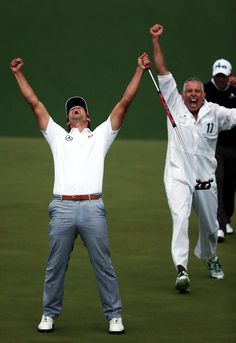 Adam Scott wins Masters with playoff birdie (Photo: Andrew Redington / Getty Images) #Masters #Golf