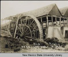 Old mill near Socorro, New Mexico :: New Mexico State University Library. This is possibly the Zimmerly Mill.