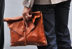 CarryWare - buttery rich brown leather Clutch