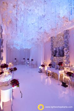 Lionel and Novita's Wedding Reception | Venue at JW Marriot Hotel | Decorated by Grasida Decoration | Lighting by Lightworks  www.lightworksjakarta.com