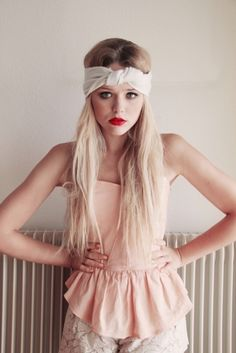 Head wrap-lipstrick-peplum-lace     PERFECT