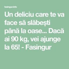 Un deliciu care te va face să slăbești până la oase... Dacă ai 90 kg, vei ajunge la 65! - Fasingur I Don T Know, The Cure, Food And Drink, Medical, Education, Drinks, Face, Fitness, Sports