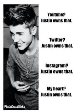 Justin owns that! Always have always will!!! I LOVE YOU JUSTIN BIEBER SO MUCHHHH <3 <3 <3 <3 <3