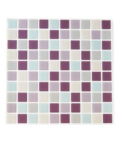 Loving this Violet & Mint Square Peel & Stick Wall Tile - Set of Five on #zulily! #zulilyfinds