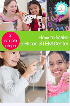 You can set up your own science center at home. Follow along with this guide on how to set up a STEM center at home. At Home Science Experiments, Stem Science, Science Kits, Science For Kids, Learning Cards, Stem Learning, Kindergarten Activities, Stem Activities, Kids Study Desk