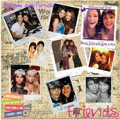 """Great layout. I like the polorad idea for displaying the pictures.  """"Selena Gomez's Friends Scrapbook Page"""" by stylestar-cdlxx on Polyvore"""