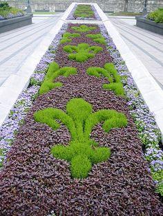 Fleur-de-lis found in gardens outside Canadian Parliament. Dream Garden, Garden Art, Garden Design, Luxor, Topiary, Flower Beds, Garden Inspiration, The Great Outdoors, Beautiful Gardens