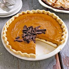 Pumpkin Chocolate Cheesecake Pie