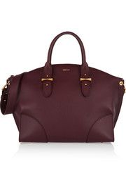 Alexander McQueenLegend large textured-leather trapeze tote
