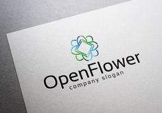 Open Flower Logo by EmilGuseinov on Creative Market