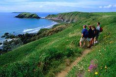 Hiking on the Pembrokeshire coastal path