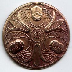 vintage scarab button