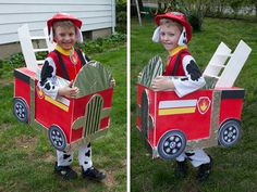 DIY Paw Patrol Firetruck Costume - Real Time - Diet, Exercise, Fitness, Finance You for Healthy articles ideas Paw Patrol Marshall, Marshall Paw Patrol Costume, Chase Paw Patrol Costume, Paw Patrol Halloween Costume, Marshall Costume, Marshall Halloween Costume, Wholesale Halloween Costumes, Halloween Costumes For 3, Diy Costumes