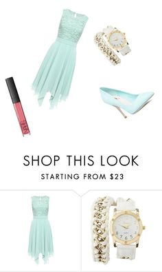 """Untitled #14"" by puppypawswork22 on Polyvore featuring Charlotte Russe, NARS Cosmetics, cute, perfect and romantic"