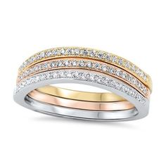 Made from 925 Fine Sterling Silver Band Width: 2 mm Stone: Clear Cubic Zirconia