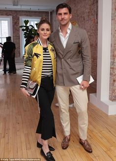 Olivia Palermo and Johannes Huebl at the Valentino Resort 2018 show in New York City on May 23, 2017