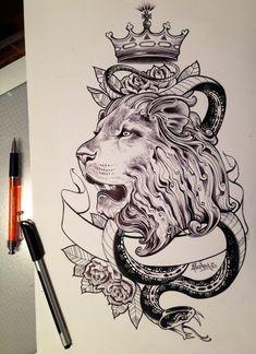 Lion heart sketch