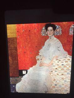 "Gustav Klimt ""Portrait Of Fritza"" Austrian Art Nouveau 35mm Art Slide  | eBay"