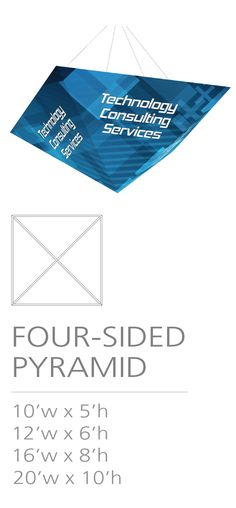 3D HANGING STRUCTURE - THREE-SIDED PYRAMID #Trade#show #Displays #Hanging #Structure. Call us today for a quote. 1-866-7ULTIMA (1-866-785-8462) Quote, Messages, 3d, Quotation, Qoutes, Text Conversations, True Words, Quotes