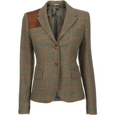 Gant Women's Herb green Royal eccentrics royal check blazer (425 AUD) found on Polyvore