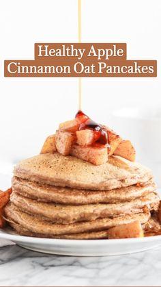 Healthy Desayunos, Good Healthy Recipes, Healthy Breakfast Recipes, Brunch Recipes, Healthy Snacks, Snack Recipes, Cooking Recipes, Healthy Oatmeal Pancakes, Healthy Pancake Recipe