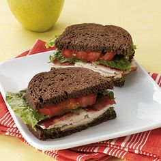 Brown-bagging it doesn't have to be boring!  Try this twist on the classic turkey club: Turkey Club with Pesto on Pumpernickel Break | Health.com