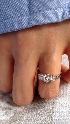 trilogy engagement ring                                                                                                                                                      More