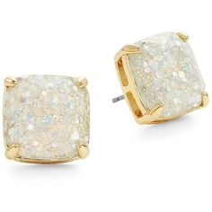 Kate Spade New York Blue Glitter Square Studs (€27) ❤ liked on Polyvore featuring jewelry, earrings, opal, blue jewelry, glitter jewelry, blue earrings, post earrings and tri color jewelry