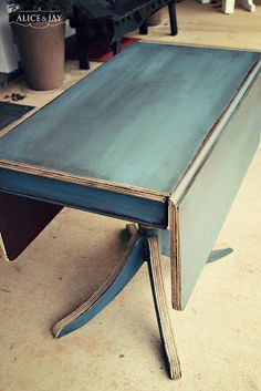 ASCP Aubusson Blue w/ Paris Grey & dark wax | AliCe aNd JaY                                                                                                                                                      More