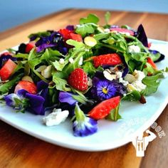 Gorgeous greens berries nuts and edible flowers
