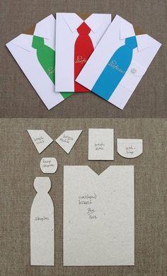 Camisa para el día del padre y su molde - Männerkarte & Geschenke , Masculine Birthday Cards, Masculine Cards, Pioneer Gifts, Karten Diy, Boy Cards, Father's Day Diy, Fathers Day Crafts, Artist Trading Cards, Card Tutorials