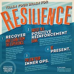 Train your brain for resilience! Words of wisdom via the #PassionProject.