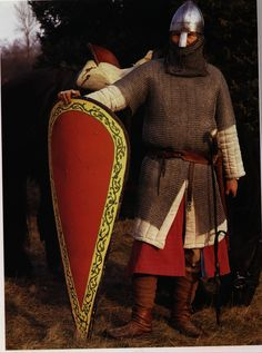 Norman knight with a kite shield 1000-1100