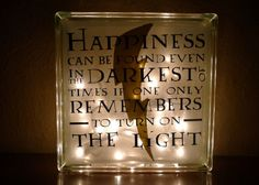 Harry Potter Albus Dumbledore Happiness Quote Nightlight Small Version