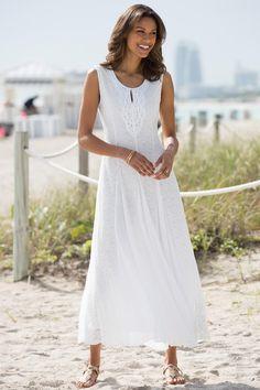 1ed30e7ecdca Long A-Line Lace Dress  Classic Women s Clothing from  ChadwicksofBoston   69.99