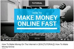 How To Make Money On The Internet in 2016 [TUTORIAL] | How To Make Money Online https://www.youtube.com/watch?v=p99YBIrUJMQ #waystomakemoneyonline #waystomakemoney #onlinemoneymaking