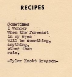 Tyler Knott Gregson by Monica Gauthier