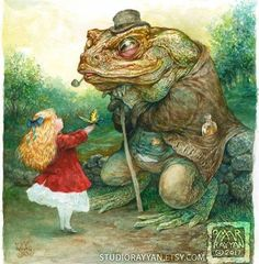 Items similar to The Young Lepidopterist (print) butterfly - child - girl - frog - toad -fantasy art on Etsy Omar Rayyan, Frog Illustration, Frog Art, Fairytale Art, Wildlife Art, Whimsical Art, Conte, Alice In Wonderland, Fantasy Art