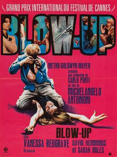 French Poster for Blow-Up (Michelangelo Antonioni, 1966)