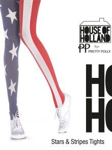 Henry Holland Stars and Stripes Tights at Tightsplease