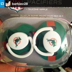 Miami Dolphins Baby Fanatic pacifiers!