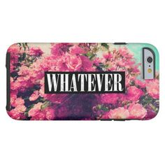 Cool Cute Girly Sassy Pretty Pink Turquoise Roses Floral Grunge Vintage Fashion Chic Whatever iPhone 6 Case - available now @zazzle http://www.zazzle.com/hyakume #grunge #iphone #whatever