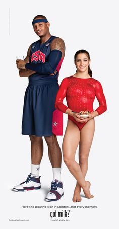 Congrats to Aly Raisman and Carmelo Anthony for a job well done in London…