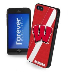 Forever Collectibles Wisconsin Badgers iPhone 5 Case ($7.49) ❤ liked on Polyvore featuring accessories, tech accessories and team color