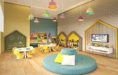 All Jazz - Vila Mascote - Welcome to ideas de juegos para niños ! Preschool Decor, Preschool Rooms, Daycare Rooms, Kindergarten Interior, Kindergarten Design, Daycare Design, Kids Room Design, Daycare Setup, Baby Room Nursery School