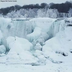 Niagara Falls February 19, 2015 ~ They're not frozen but they are ice cold and so beautiful!