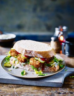 Feast your eyes on our ultimate fish finger sandwich recipe for a quick and easy dinner. We've made sure to add plenty of ketchup and homemade tartare sauce #YourEyes