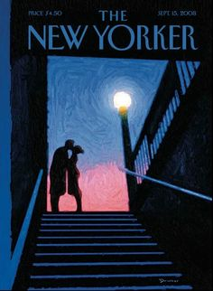 """The New Yorker - Monday, September 15, 2008 - Issue # 4277 - Vol. 84 - N° 28 - Cover """"New York Moment"""" by Eric Drooker"""